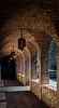 Arched hallway in Castello di Amorosa in Napa
