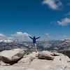 At the top of Cloud's Rest, Yosemite Nat'l Park, California