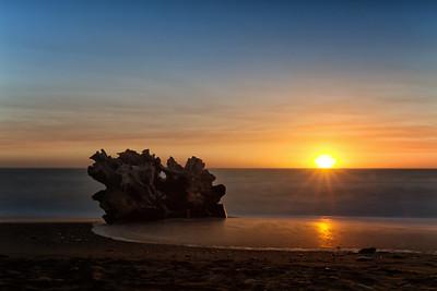 Sunset at Klamath Beach