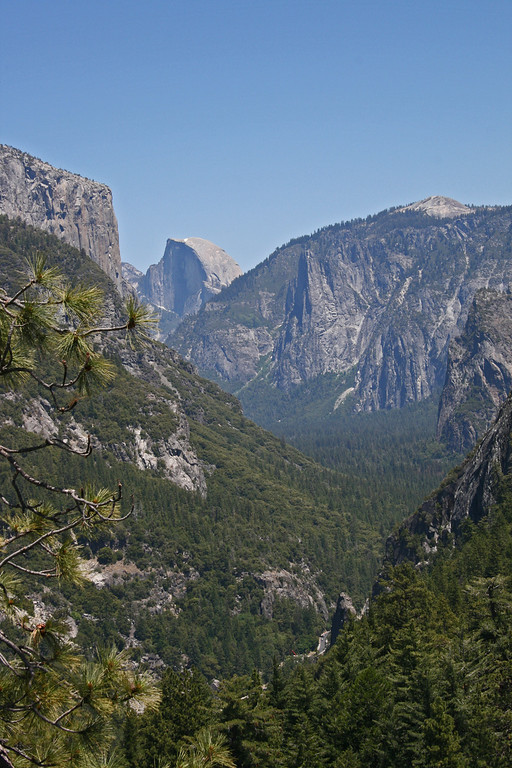 Going back with a view of Half Dome.