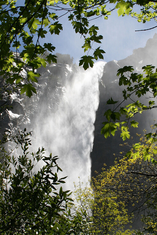 Bridalveil Fall blowing mightly.