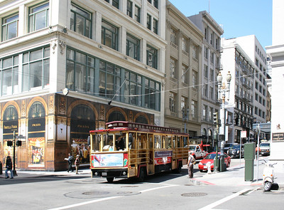 The cable car trolly.