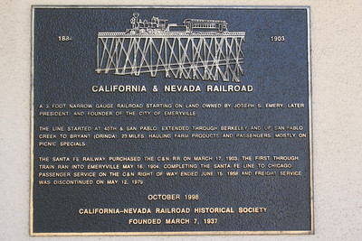 California and Nevada Railroad founded 1884.