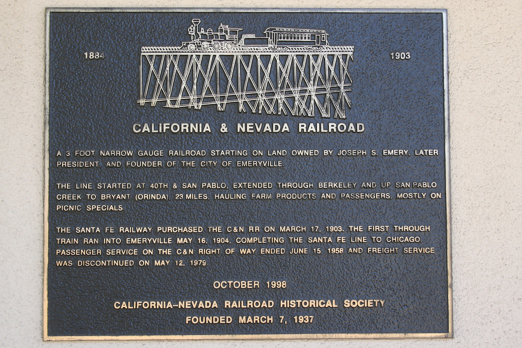 California and Nevada Railroad founded 1884.