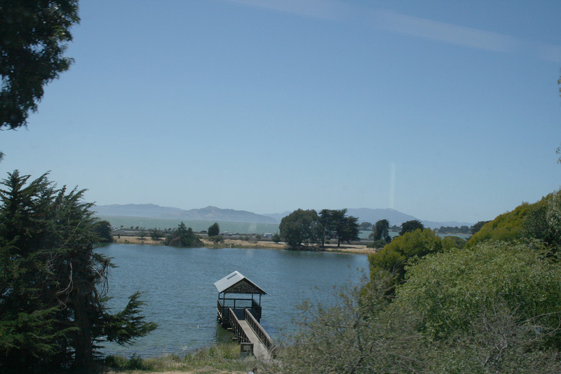View from the train going north towards Vallejo, CA.
