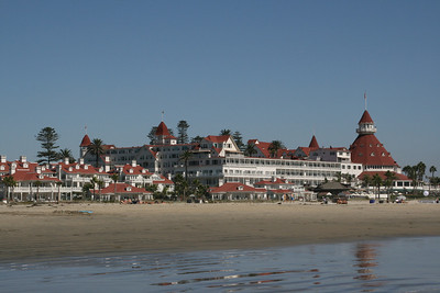 "Hotel Del Coronado which is where ""Some Like it Hot"" was filmed. Marilyn Monroe was on that beach right there."