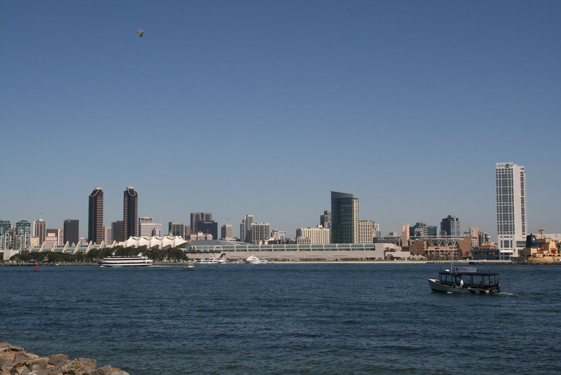 Looking back at San Diego from Coronodo Island