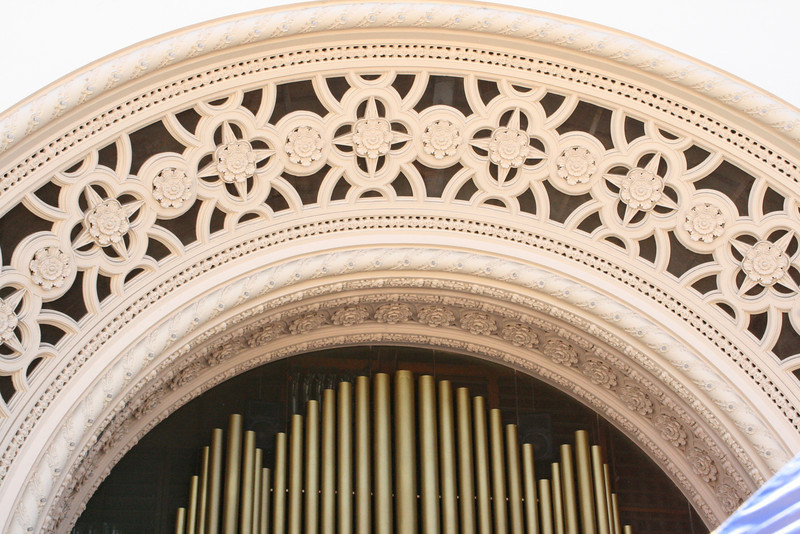 The organ at Balboa Park - only opened/played on Sundays