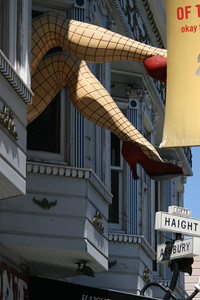 Haight Ashbury.  Back in the mid-1960s, this was perhaps the most famous intersection in the world, a place where young people came to from all over the world in search of love and peace.