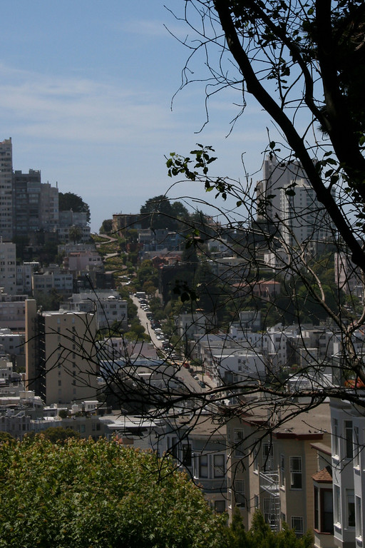 Lombard Street in the distance.  Click on the picture to see an enlargement.