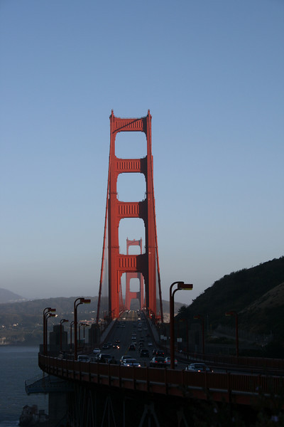 Golden Gate Bridge and highway.