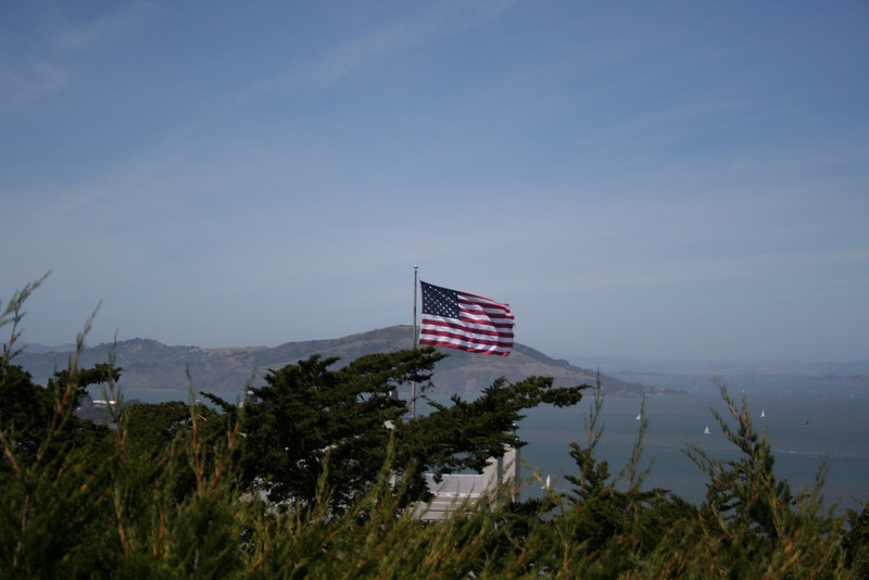 Looking out to the bay from Coit Tower.