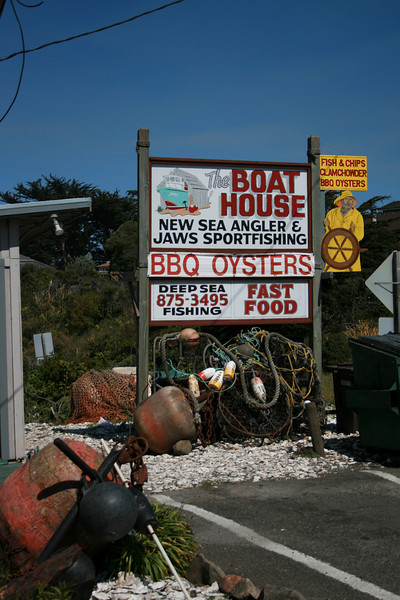 A restaurant in Bodega Bay.