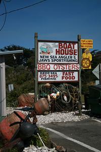 A restaurant in Bodega Bay.