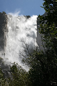 The wind blowing Bridalveil Fall (taking pictures without getting the camera wet was a challenge!)