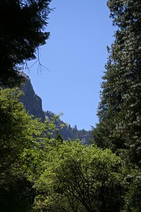 The view from Wawona Road between Bridalveil Fall and the south exit.