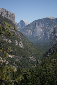 Half Dome and the road below.