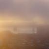 Sunrise behind the Bay Bridge