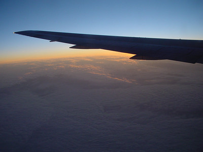 Flying to sunrise