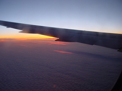 Flying to sunset