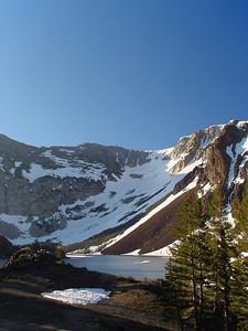 View to mountain lake