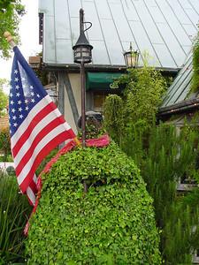 American Flag in Solvang