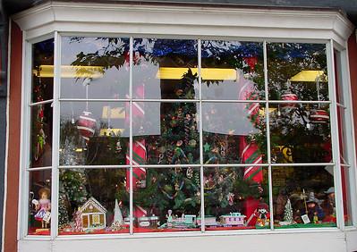Toys in shop-window
