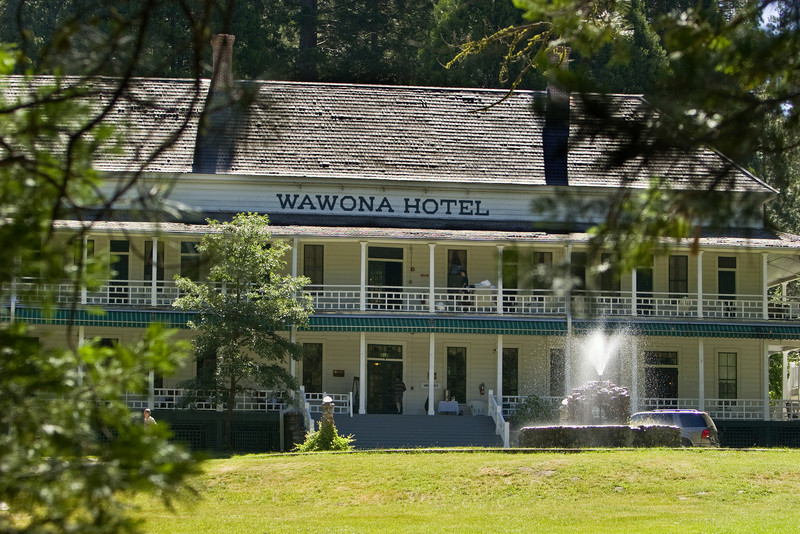 The main building of the Wawona Hotel.