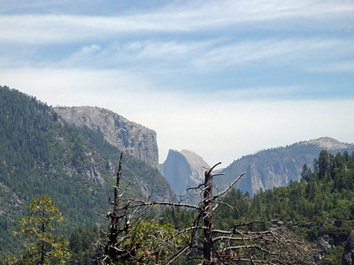 The first glance to Half Dome
