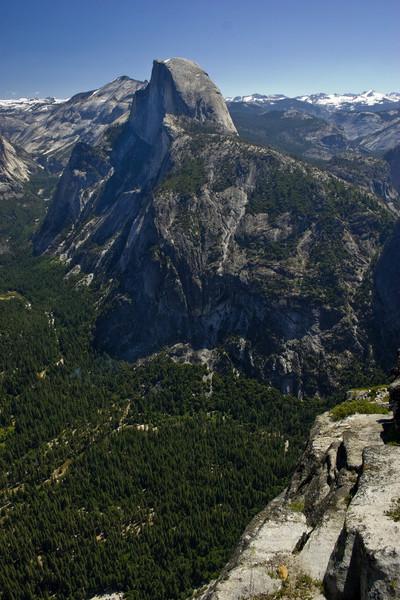 Half Dome from Glacier Point<br /> <br /> 090705-square w/ half dome (check size)