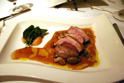 Cly's duck breast appetizer