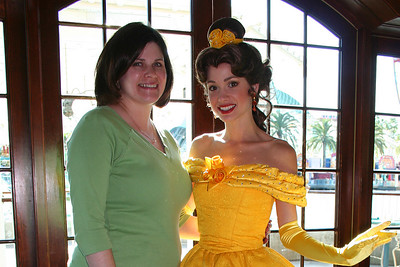 We ran into Belle in Ariel's Grotto