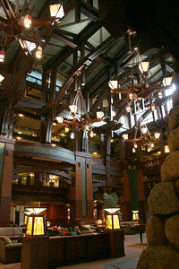 Main lobby in the Grand Californian