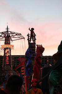 Silhouette of Mrs. Incredible in the Block Party parade