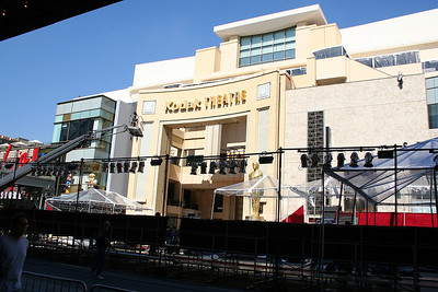 The Oscars were scheduled in 4 days so there was lots of construction on the Kodak theater