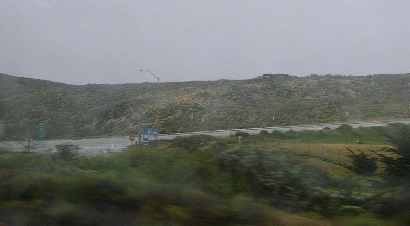 Rainy day on Route 1 - dunes