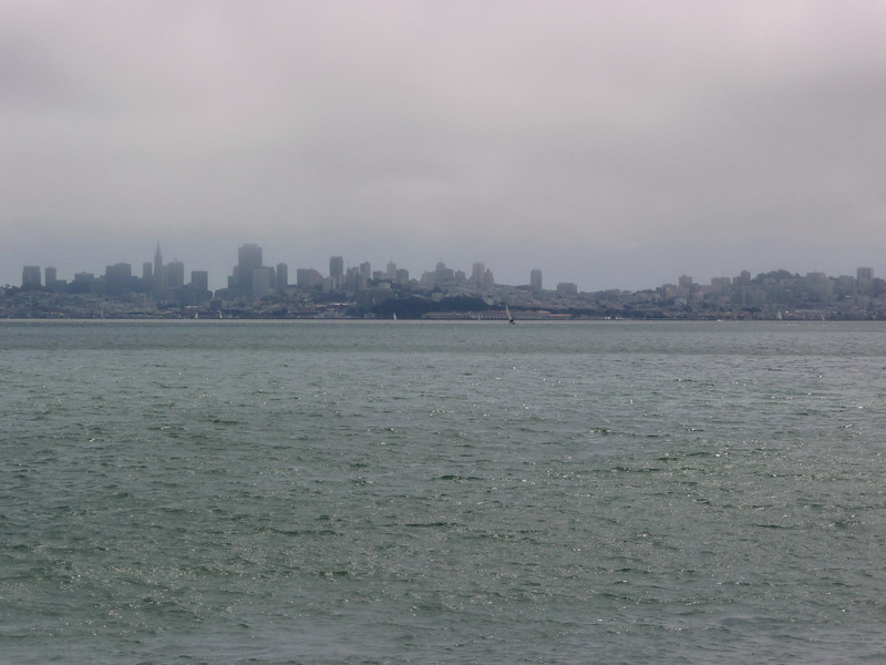 Shooting across the water from Sausalito.