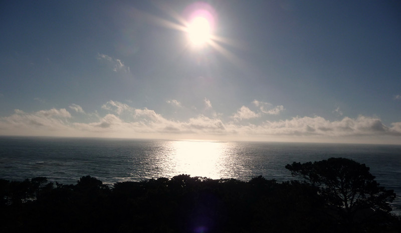 Sunset (almost) from Room 5 at the Tickle Pink Inn, Carmel Highlands, CA