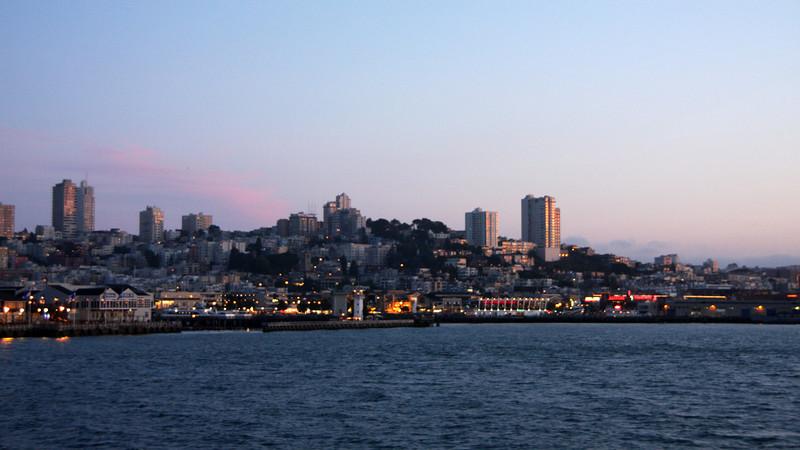 <b>View of San Francisco from the Alcatraz Ferry</b>