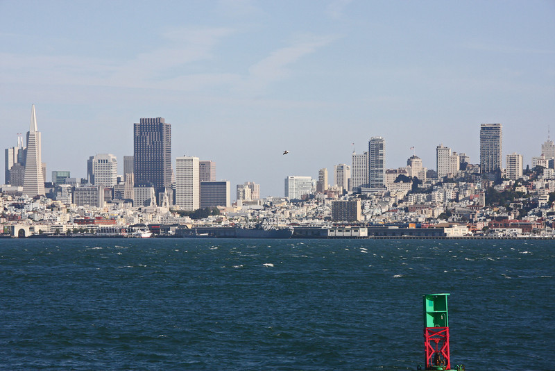 <b>View of San Francisco and Surrounding Area from the Alcatraz Ferry</b>  [B]