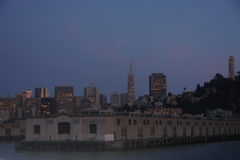 View of San Francisco from the Alcatraz Ferry