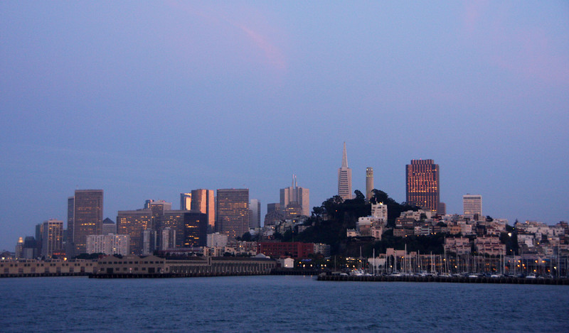 <b>View of San Francisco from the Alcatraz Ferry</b>  [B]