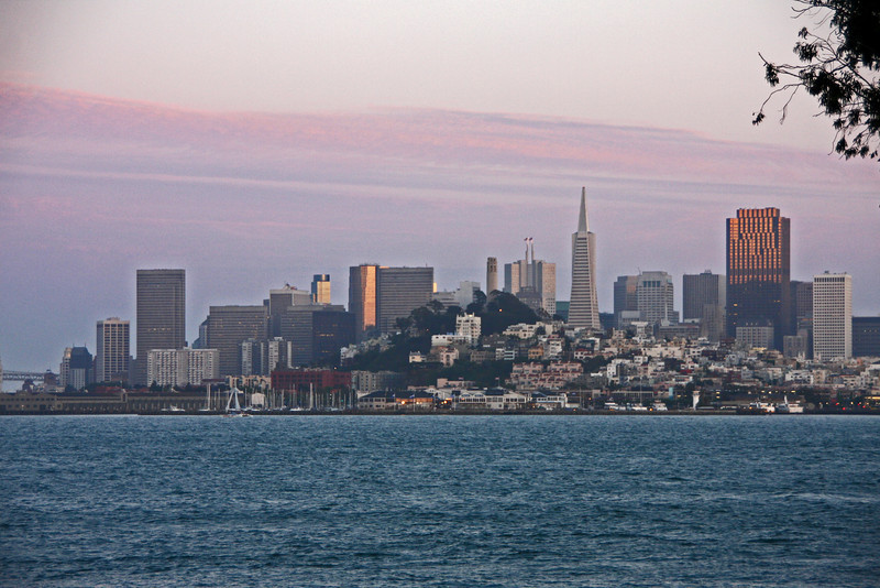 <b>View of San Francisco from the Alcatraz Ferry</b>