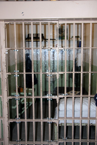 <b>Cell of Allan West - One of the Four Inmates involved in the Escape from Alcatraz</b><br> <br> This is the cell of Allen West, an accordion-playing New York car thief, who was involved in the famous Escape from Alcatraz. In the cell next to him was Frank Morris, considered to be the mastermind behind the escape. West never made it out with the other three convicts. He was still in his cell the next morning when the escape was discovered. He eventually told the FBI detail by detail of the planned escape.  Because of that, he was never charged.