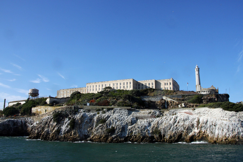 <b>Cellhouse</b> [center], <b>Water Tower</b> [far left], <b>Lighthouse</b> [far right]