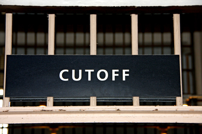 "The <b>""cutoff""</b> is a hallway in the middle of the long cell blocks.  This allowed one to get from one corridor to the other without having to walk all the way to the end of the cell block."