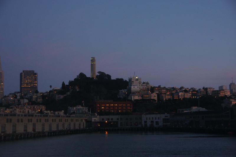 <b>View of San Francisco from the Alcatraz Ferry</b>  [B]