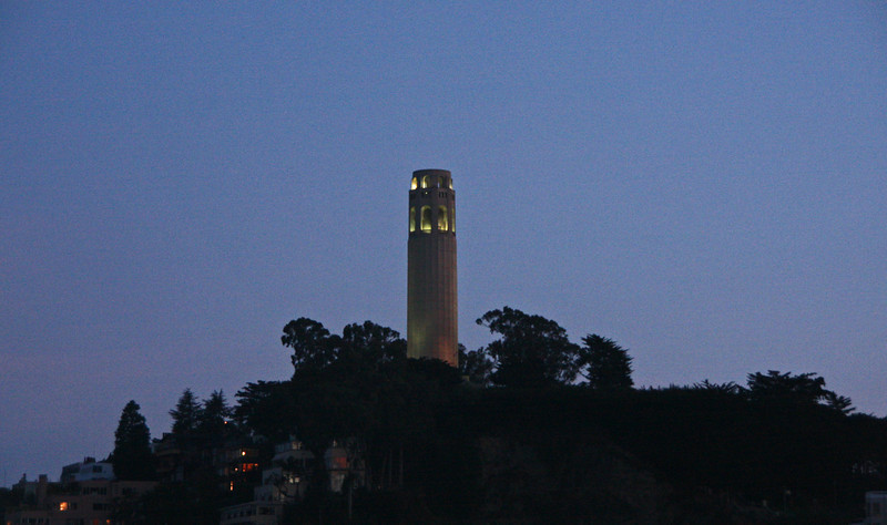 <b>View of Coit Tower from the Alcatraz Ferry</b>