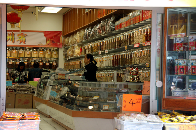 "<b>Herbal Shop</b> - <b>San Francisco's Chinatown</b><br> <br> San Francisco's Chinatown is the largest Chinatown outside of Asia as well as the oldest Chinatown in North America. In 1848, the first Chinese immigrants - two men and one women - arrived in San Francisco on the American brig, Eagle.  <a href=""http://www.sanfranciscochinatown.com/history/index.html"" target=""_blank""> <b>Here</a></b> you can find an abridged version of the history of San Francisco's Chinatown.   [B]"