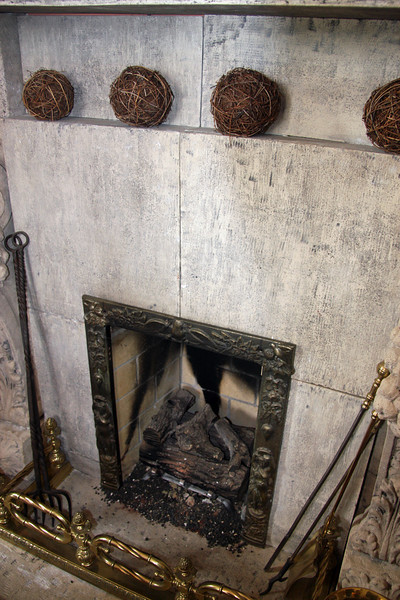 """<b>Shannon-Kavanaugh Home</b> - <b>Fireplace in the Dining Room</b><br> <br> Amid the famous Alamo Square, the <b>Shannon-Kavanaugh House</b> is one of the """"7 Sisters"""" in Alamo Square Park. """"Postcard Row"""" and """"Painted ladies"""" are other common names.<br> <br> The Shannon-Kavanaugh House, built in 1892 by carpenter-builder Matthew Kavanaugh for his own family, has become one of the most famous buildings in America. The house contains 4500 square feet on four floors, set against the magnificent backdrop of the San Francisco city skyline.<br> <br> The interior features, such as the gilded mirror in the main parlor and the working gaslights on the main floor, were salvaged from other prominent San Francisco homes. The elegant Queen Anne-style structure has become familiar through its role in over 40 films, television series and commercials. The Shannon-Kavanaugh home is mostly remembered for the TV Show, """"Full House.""""<br> <br> This house is not opened to the general public; however, we were fortunate enough to have chosen the tour company that is invited inside this gorgeous home.  Our 25-minute house tour was guided by the current owner of the home, Michael Shannon.  [B]"""